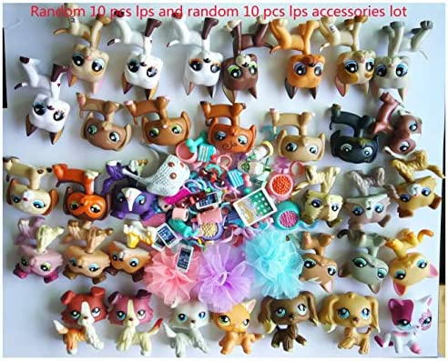 LPSOLD LPS Great Dane 184 and Collie 1262 and Dachshund 1631 Dogs Puppy Figure with Accesories Set Kids Girls Xmas Gift