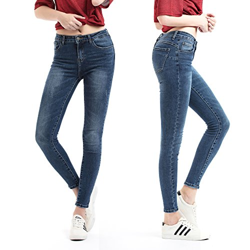 Zip Denim Leggings - 8