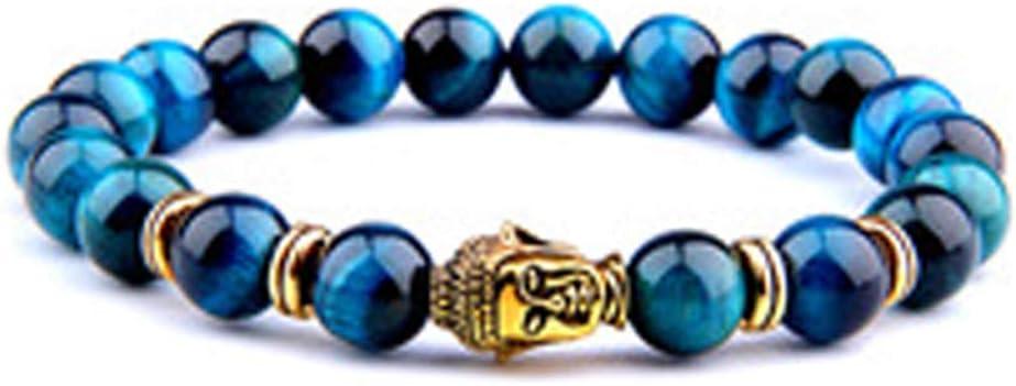 Protección Triple Pulsera Ojo del Tigre, Perlas de hematita y Negro Obsidiana