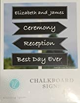 4 Piece Chalkboard Sign Set for Weddings, Events and Parties