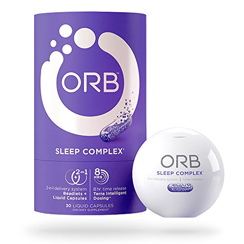 ORB Sleep Aid Supplement - Helps Natural Sleeping & Insomnia Relief with Essential Oils + Herbal Formula Melatonin, Valerian, Chamomile | Calms & Aids Better Sleep | TimeRelease B12 Vitamins, 30 count