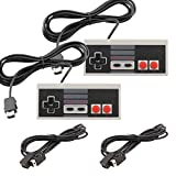 Veanic 2pcs Classic Gamepad Controller + 2pcs Extension Cable Cord for Nintendo NES Classic Mini Edition