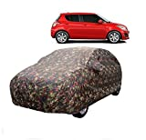 MotRoX Car Body Cover for Maruti Suzuki Swift with Side Mirror Pocket (Military Color)