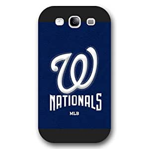 ArtPopTart Galaxy S3 Case,Fashion MLB Washington Nationals Samsung Galaxy S3 Case [Black Frosted Hardshell],Coolest 2015 Cell Phone Case