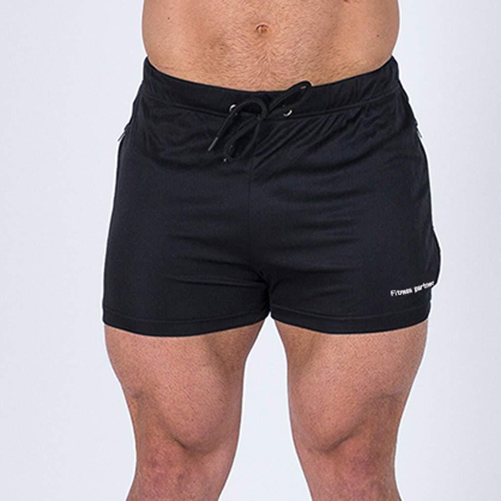 Pottoa M/änner Sport Shorts Fitness Shorts Atmungsaktive Freizeit Shorts Sommer Mode Herren Hosen Bodybuilding Freizeit Kurze Hosen
