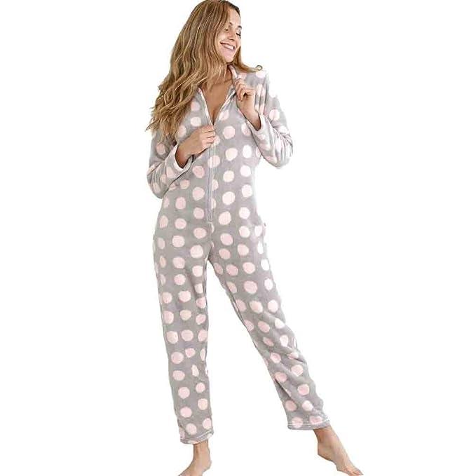 MASSANA Pijama de Mujer Tipo Mono P681238 - Rosa, L