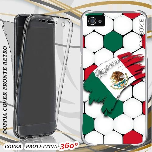 CUSTODIA COVER CASE COPPA AMERICA MESSICO PER IPHONE 5 FRONT BACK