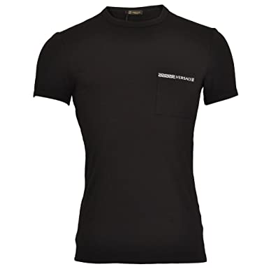 1dc16e65212c Versace - T-Shirt - Col Rond - Manches Courtes - Homme Noir Noir ...