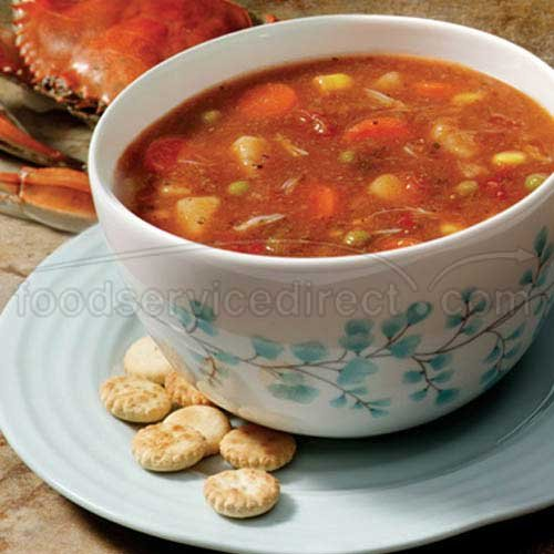 Campbells Frozen Condensed Maryland Crab Soup - 4 lb. tray, 3 per case
