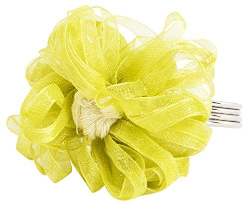 (SARO LIFESTYLE NR151.LM Ribbon Design Napkin Rings (4 Pack), Lime, 3