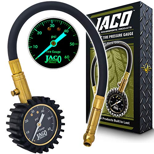 JACO ElitePro Tire Pressure Gauge - 60 PSI (The Best Tire Pressure Gauge)