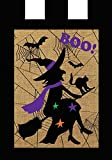 Briarwood Lane Halloween Witch Burlap House Flag Boo Bats 28″ x 40″