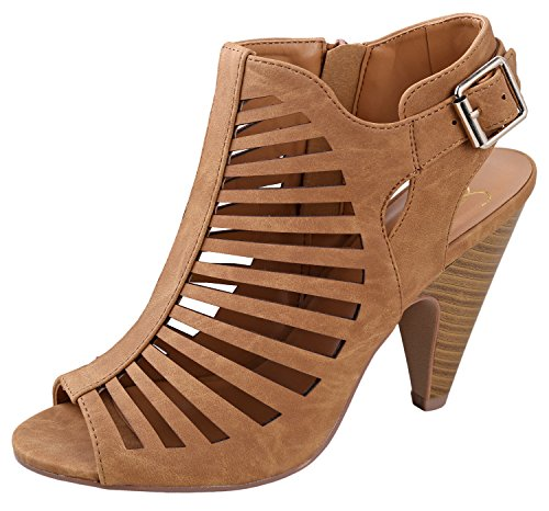 Shaky My Dress My Delicious Womens Synthetic Tan Shoes Delicious fnxTFnqw6