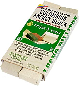 Barritas Energéticas de Guayaba Naturales 10x40g – Barritas Energéticas Ciclismo Alto Conteni-do de Carbohidratos para Máxima Resistencia – Geles ...
