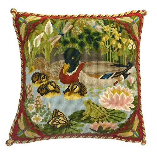 (Duck Pond Needlepoint Tapestry Kit from Elizabeth Bradley premium English needlework project with 100% wool yarns )