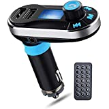 Perbeat Bluetooth FM Transmitter Wireless Receiver Hands free Car Kit Radio Adapter MP3 Player Dual USB Car Charger support SD Card USB Flash Disk for Smart phone, iPhone, iPad,etc (BT66 Silver)