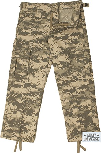 Kids ACU Digital Camouflage Military Army BDU Pants Fatigues with ... 4c29de47a1c