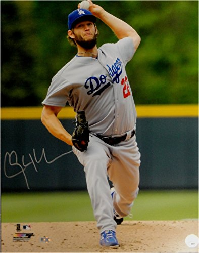 Clayton Kershaw Hand Signed Autographed 16x20 Photo Pitching LA Dodgers VER MLB Hand Signed Pitching 16x20 Photograph