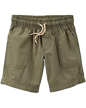 Baby Boys' Flat Front Pull on Shorts - Olive Green - 6 Months