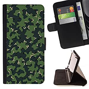 Momo Phone Case / Flip Funda de Cuero Case Cover - CAMO CAMUFLAJE VERDE MODELO - Samsung Galaxy Core Prime