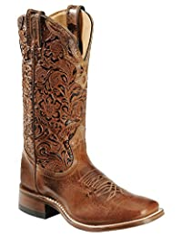 Boulet Western Boots Womens Cowboy Leather Puma Madera Tan 2106
