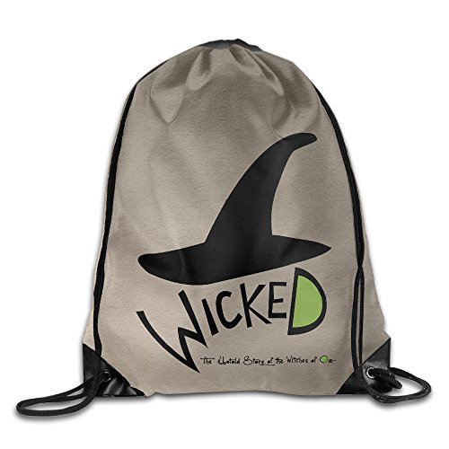 AK79 Personalized Wicked Musical Backpack White (Wicked Witch Of The West Socks)