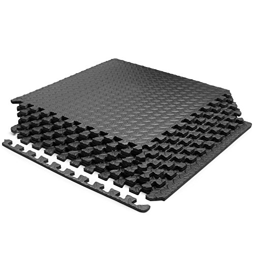 Yes4All Interlocking Exercise Mat Eva Foam Mat (Black - 6pcs SA)