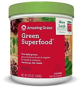 Amazing Grass - Polvo de Bebida Sabor Baya Green Superfood