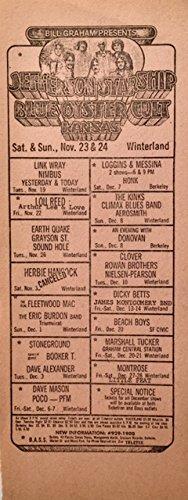 oddtoes concert posters and music memorabilia Jefferson Starship - Blue Oyster Cult - Kansas & Others BGP Handbill 1974 Rare