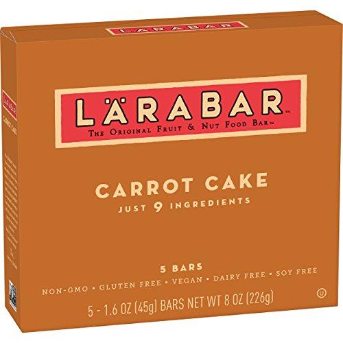 - Larabar Gluten Free Bar, Carrot Cake, 1.6 oz Bars (5 Count)