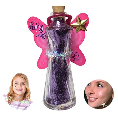 Shimmering Gold Wand (Fairy Magic - Face & Body Glitter-Star Wand Applicator-Glitter Tatoo (Purple))