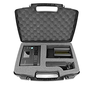 SECURE Hard Travel Carrying Case with Dense Foam fits Canon SELPHY CP1200 / CP910 Wireless Compact Portable Photo Printer , Charger Adapter , Cables , Battery , Color Ink Paper and More