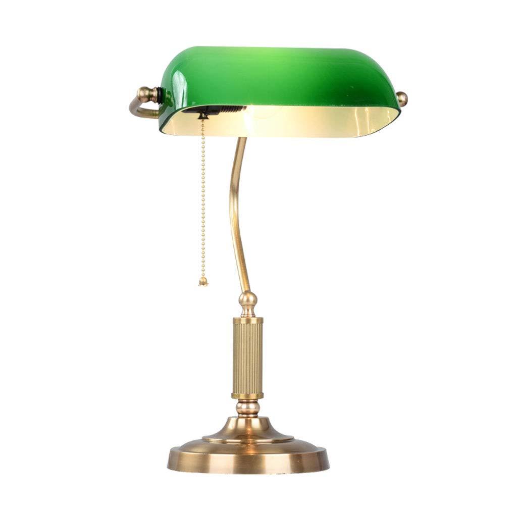 TangMengYun ベッドルームベッドサイドテーブルランプアイ保護銅机ランプレトロ銀行ランプ B07H32KHZ9