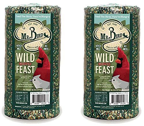 2-Pack of Mr. Bird Wild Bird Feast Small Wild Bird Seed Cylinder 28 oz. (Best Price On Wild Bird Seed)