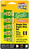 Super Glue Gel 15176-12 Single Use Minis, 0.5g, 5 Pack