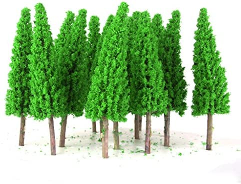 dailymall 25ピース/個風景風景鉄道模型メタセコイアの木スケール1/150ジェイドグリーン