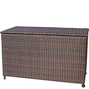 Home Decor Royce Wicker Storage Box, Small, Brown