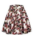 Urban CoCo Women's Basic Versatile Stretchy Flared Casual Mini Skater Skirt (L, Long-1)