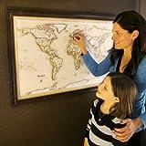 Homemagnetics MM3624WLD Magnetic Travel Map of The