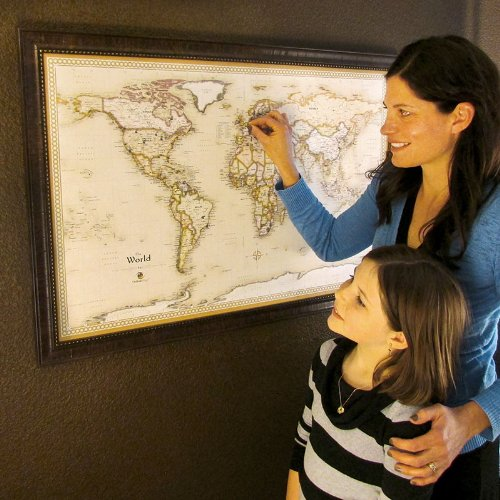 Homemagnetics MM3624WLD Magnetic Travel Map of The World, Magnets Included, 39 by 27-Inch by Homemagnetics (Image #2)