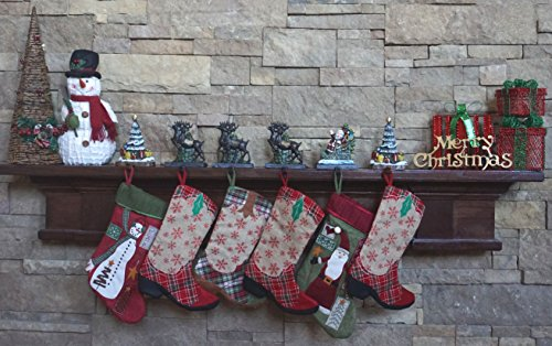 Lulu Decor, 100% Cast Iron Santa Claus & 3 Reindeers Decorative Christmas Stocking holders Plus 2 Trees 8'', 6 strong hooks, each weighs approx 3 lb, beautiful solid appearance(Combo Deal CODTG2) by LuLu (Image #1)