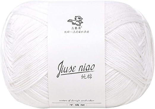 Lana para tejer de algodón – hilo de algodón de nueve colores ...