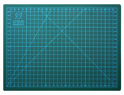 DAFA Professional 18″ x 12″ Self-Healing, Double-Sided Cutting Mat, Rotary Blade Compatible, (36×24), (24×18), (18×12), (12×9) Sizes, for Sewing, Quilting, Arts & Crafts