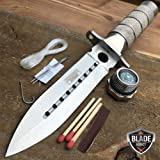 8'' Tactical Fishing Hunting EcoGift Nice Knife with Sharp Blade w/ Sheath Survival Kit Bowie Camping Tool NEW- Great For Fun And Practical Use