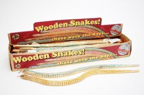 Jouet Rétro Enfant Grand Serpent Articulé En Bois Cadeau Fête Ackerman