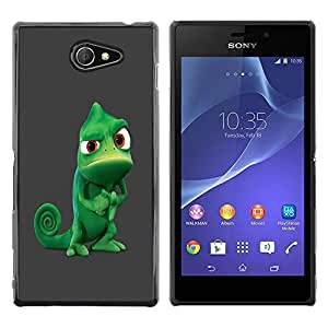 Planetar® ( Funny Tough Chameleon ) Sony Xperia M2 / Xperia M2 Aqua / Sony Xperia M2 DualFundas Cover Cubre Hard Case Cover