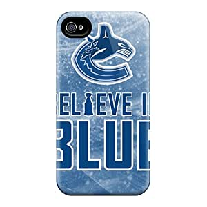 Best Hard Cell-phone Case For Iphone 4/4s With Unique Design High Resolution Vancouver Canucks Skin Marycase88