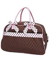 Belvah Womens Quilted Solid Weekender Duffel Bag