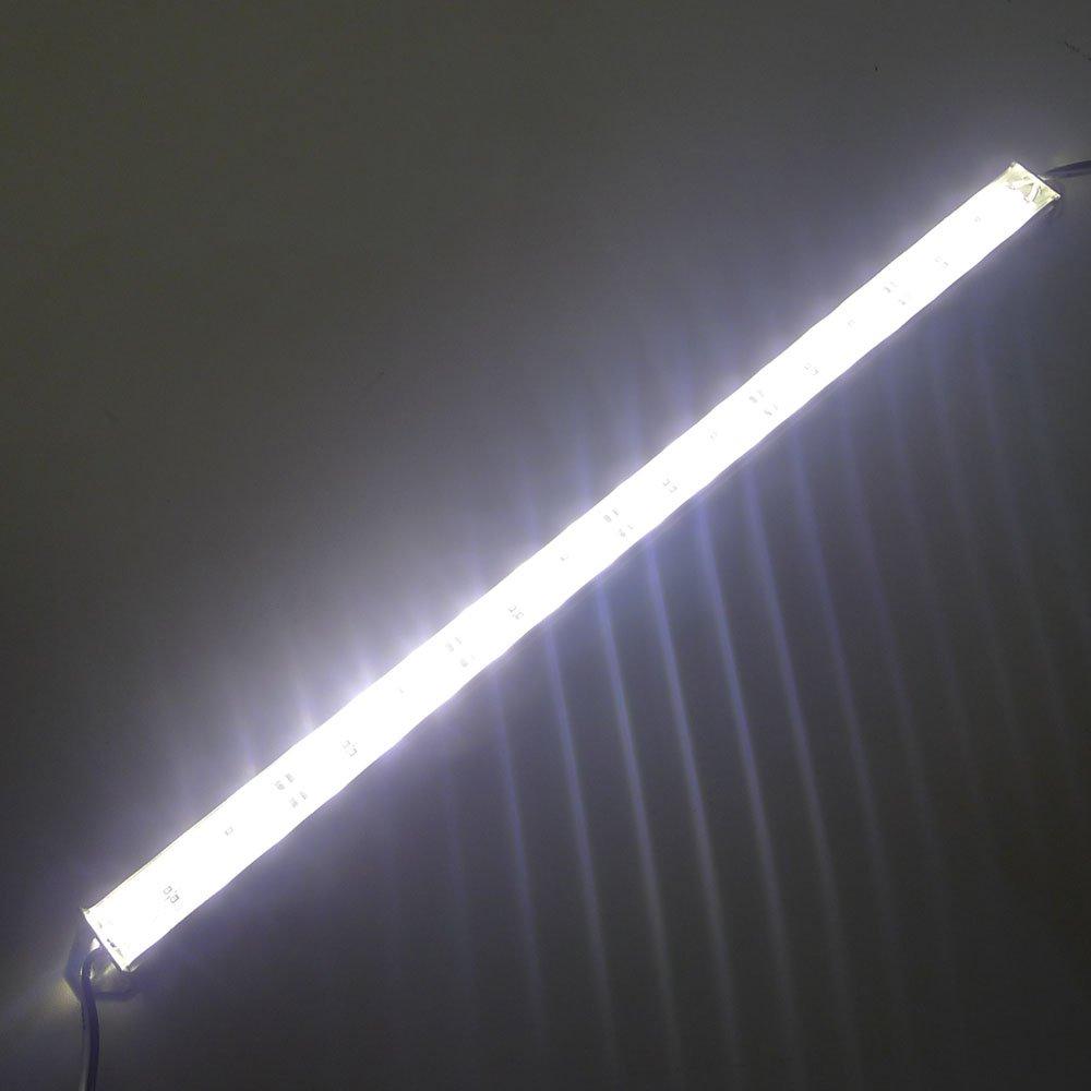 LEDENET 12'' 2800K-3000K Warm White Super Bright 18LEDs 5050 - Aquarium LED Strip for Fish Tanks - Waterproof Aluminum Lighting 12V DC