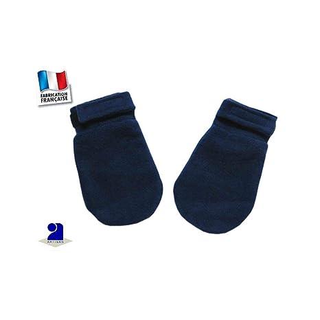 4b95a9dc12e6 Poussin bleu - Moufles polaire 0 mois-24 mois Made In France Couleur - Bleu